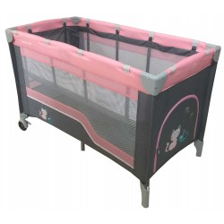 Double layer portable travel cot