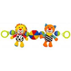 Grzechotka pluszowa do wózka - Tygrys i Lew