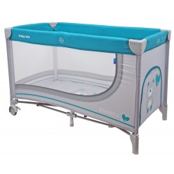 Single layer portable travel cot