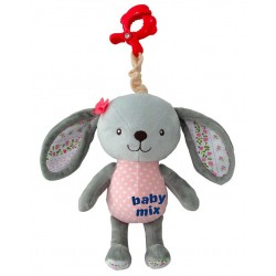 Plush pull string toy with a clip