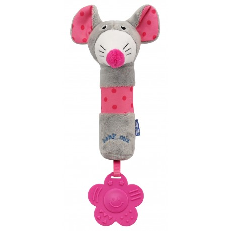 Plush rattle with squeaker