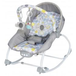 Leżaczek niemowlęcy z muzyką i wibracją