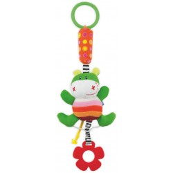 Zabawka podróżna z dzwoneczkiem - Żabka