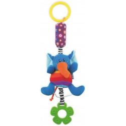 Zabawka podróżna z dzwoneczkiem - Słoń