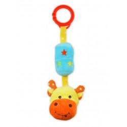 Zabawka podróżna z dzwoneczkiem - żyrafka