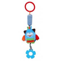 Zabawka podróżna z dzwoneczkiem - Sowa